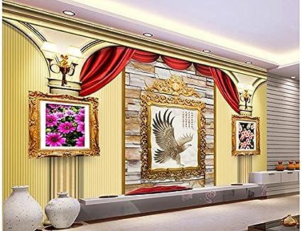 Wapel 3D Wallpaper For Room 3D European Roman Column Painting Frame
