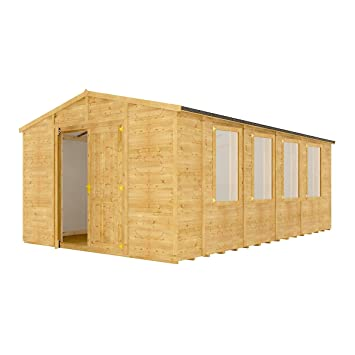 Insulated Garden Shed >> Project Timber 20 X 12 Windowed Grandmaster Wooden Garden