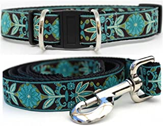 product image for Diva-Dog 'Boho Peacock' Dog Collar with Safety Buckle, Matching Leash Available