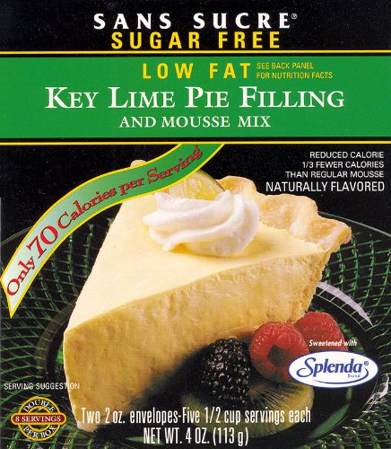 Sans Sucre Key Lime Pie Filling and Mousse Mix - Gluten Free Diabetic Key Lime Pie