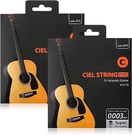 CIELmusic Cuerdas para guitarra acústica, 2 paquetes, fósforo ...