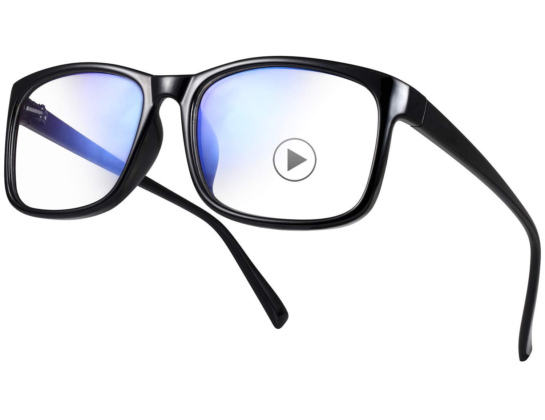 e1d542818c61 YAROCE Blue Light Blocking Glasses Anti Glare Computer Glasses Vintage Blue  Blocker Glasses Square Blue Light