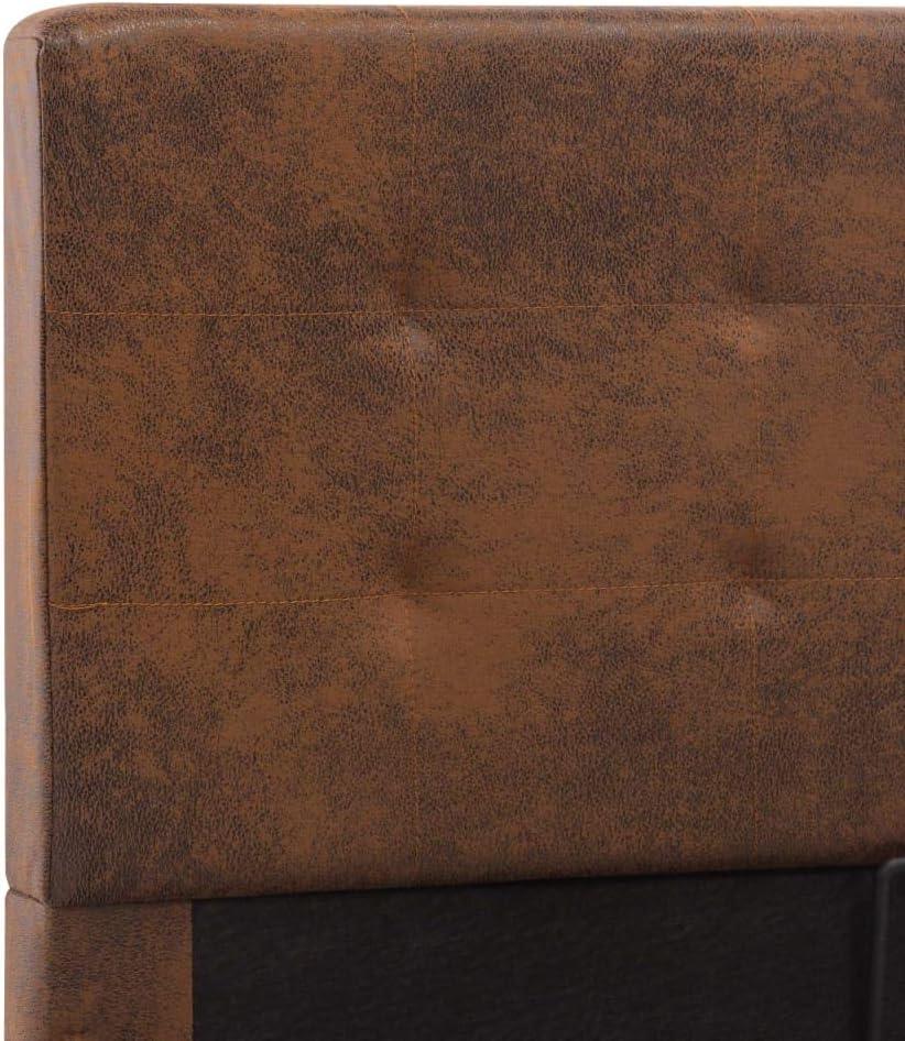 Listones de Madera Contrachapada Marr/ón 140x200 cm para Dormitorio Benkeg Cama Canap/é Hidr/áulica con Almacenaje Tapizado de Tela Hogar Salon Cama de Matrimonio