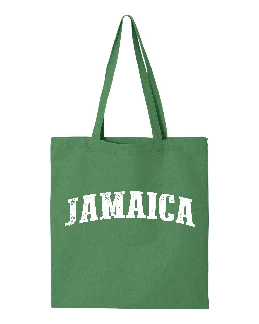 Ugo What To Do in Jamaica Kingston Montego Bay Travel Deals Map Jamaican Flag Tote Handbags Bags Work School Travel