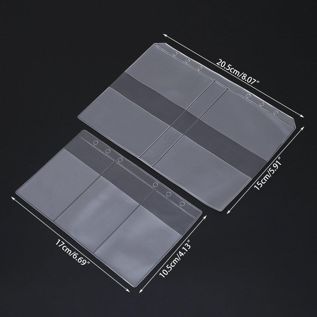 Lamdoo - Carpeta de plástico PVC Transparente para Guardar Tarjetas de Visita, PVC, 17cmx10.5cm/6.69inx4.13in: Amazon.es: Hogar