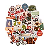FaCraft Scrapbooking Cardstock and Die Cuts (50 pcs Travel,Vintage)