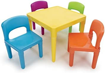 Plastic Kids Set Chair Table Chairs Furniture Play And Children Activity Child