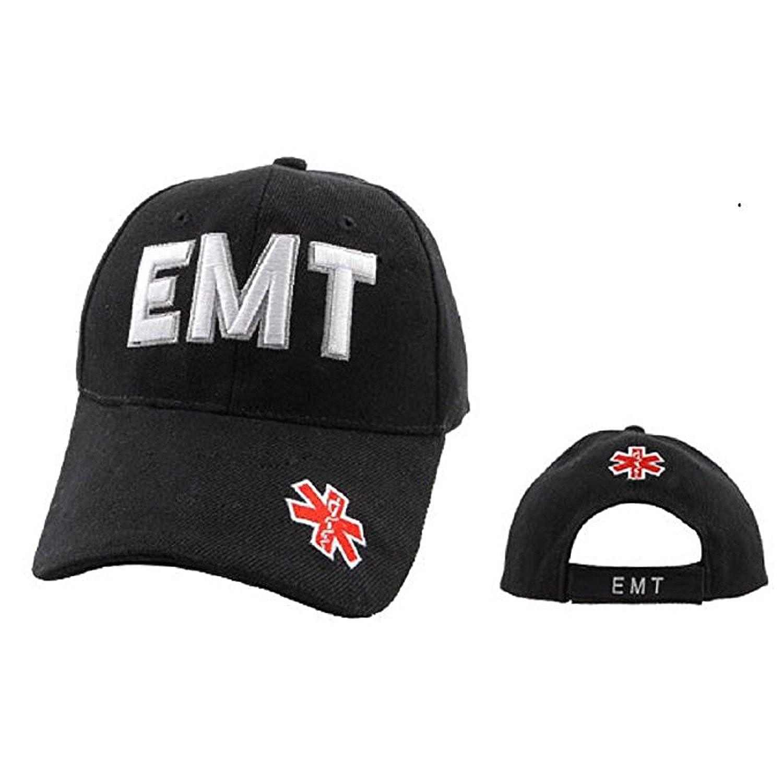d80fd3c0775 Amazon.com  Emergency Medical Technician (EMT) - First Responders Uniforms  Style Baseball Cap Hat Black  Clothing