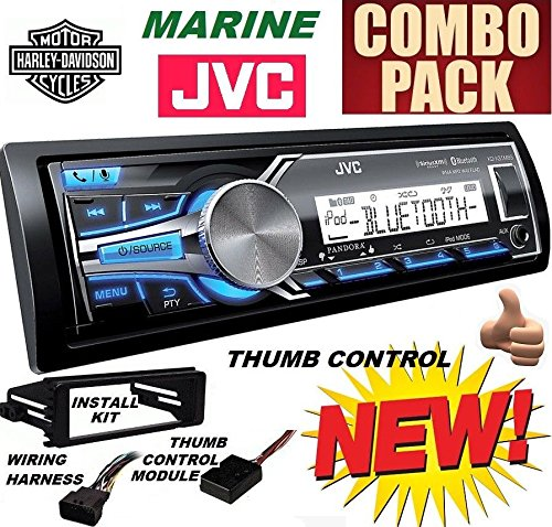 98-2013 Marine Harley Touring Stereo Radio Install Adapter Dash Kit Flht Flhx Flhtc JVC Cleveland Indians Hitch Cover