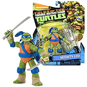 TMNT Year 2017 Tales of Teenage Mutant Ninja Turtles Series 5 Inch Tall Figure - Turtle's Leader and King of Katana MIGHTY LEO with Katana Swords and Weapon Accessories