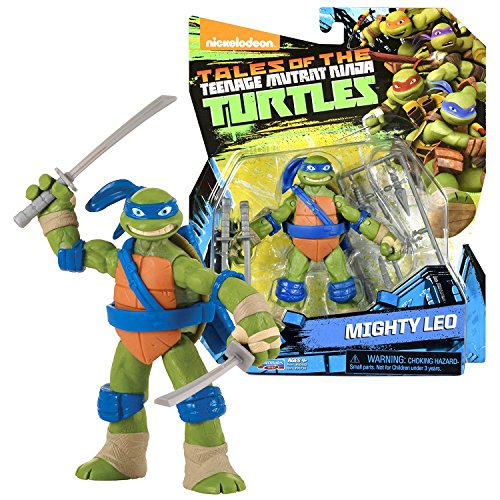 TMNT Year 2017 Tales of Teenage Mutant Ninja Turtles Series 5 Inch Tall Figure - Turtle's Leader and King of Katana MIGHTY LEO with Katana Swords and Weapon Accessories ()
