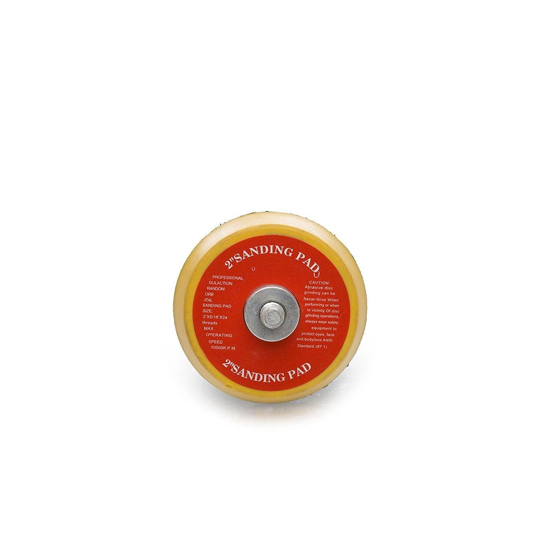 Polishing Backer Diameter 2 inch GP12709 Hook and Loop Rotary Backing Pad with 5//16-24 Thread Sanding