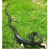 Epaler Rubber Lifelike Snakes Scary Gag Gift Incredible Creatures Chain Snakes 47'' Rain Forest Snake Toys Wild Life Snakes