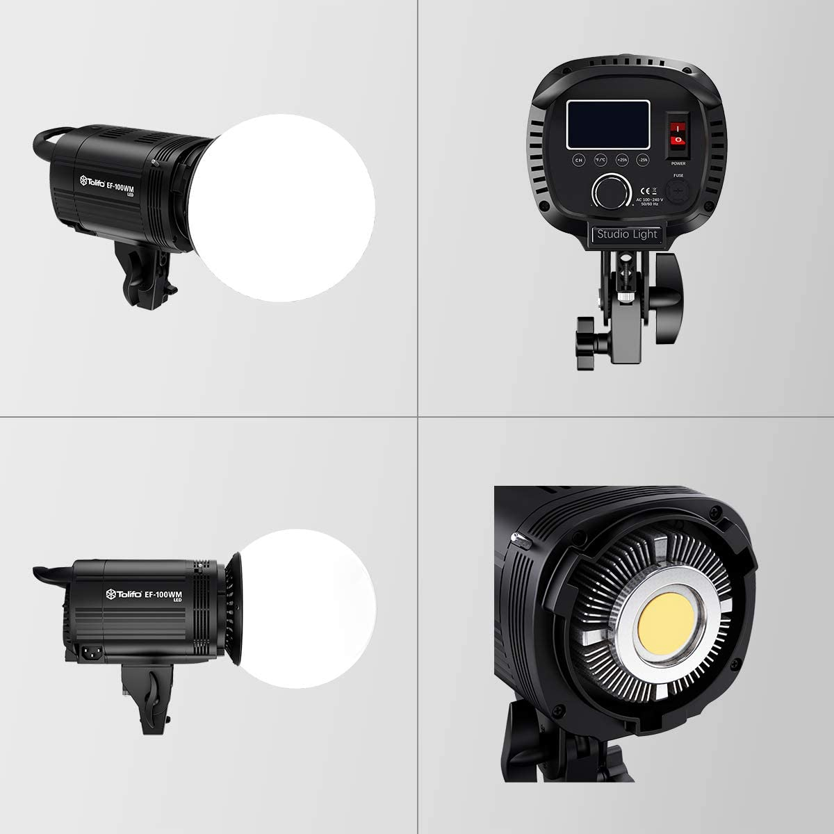 Tolifo LED Videolicht Kit 2er Pack 100W Dauerlicht 5600K CRI 95+ ...