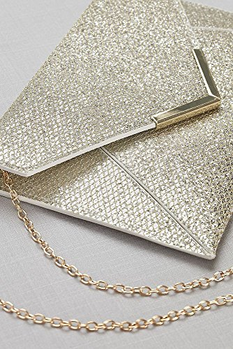 Glitter Style Clutch Envelope Gold HBGLITTER TaqrTxgpw