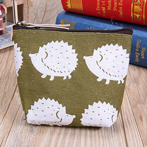 FINIFLY Stylish Fashion Hedgehog Cloth Korean Key Zipper tasteful��Women Coin Wallet Portable Purse Canvas AFqRAwPB