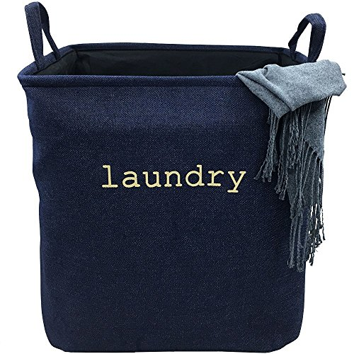 Toy Denim Bag (VANCORE Collapsible Laundry Basket Hamper for Household Clothes,Toys - Denim Small)