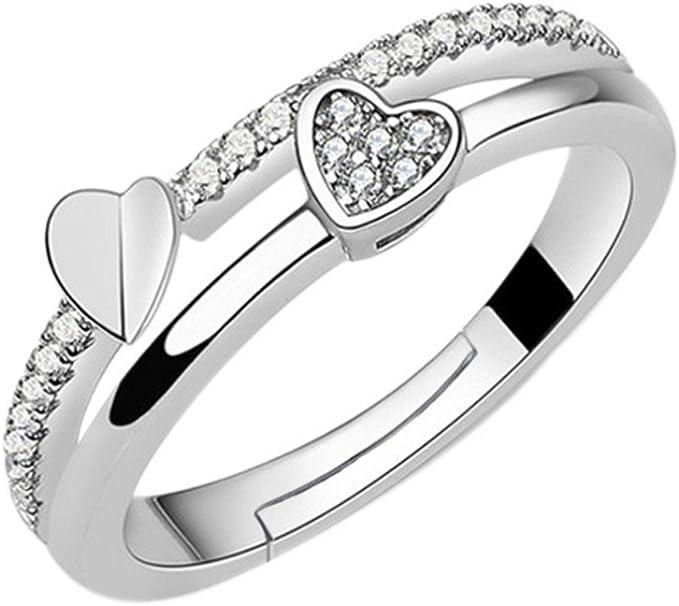 Endless Argent sterling Zircone cubique Blanc grand cœur Or 18K Vermeil 925 charme #3875-2