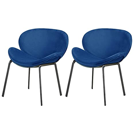 Pleasing Chair For Bedroom Set Of 2 Velvet Accent Chairs Modern Large Shell Chairs For Living Room Leisure Chair Blue Ocoug Best Dining Table And Chair Ideas Images Ocougorg