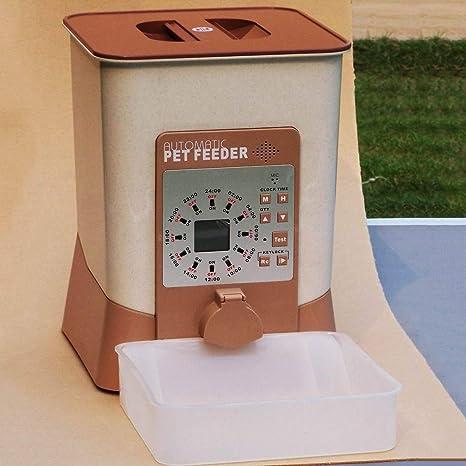 HFPT Comedero para Gatos Tazón de Comida para Mascotas automático Eady para Usar 12 Tiempos de