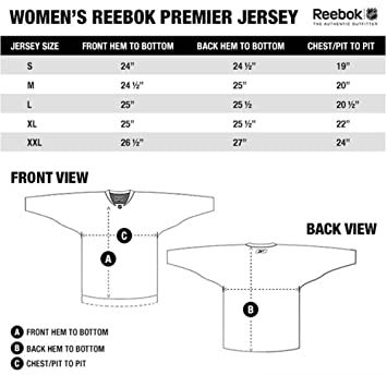 hockey jersey size chart reebok