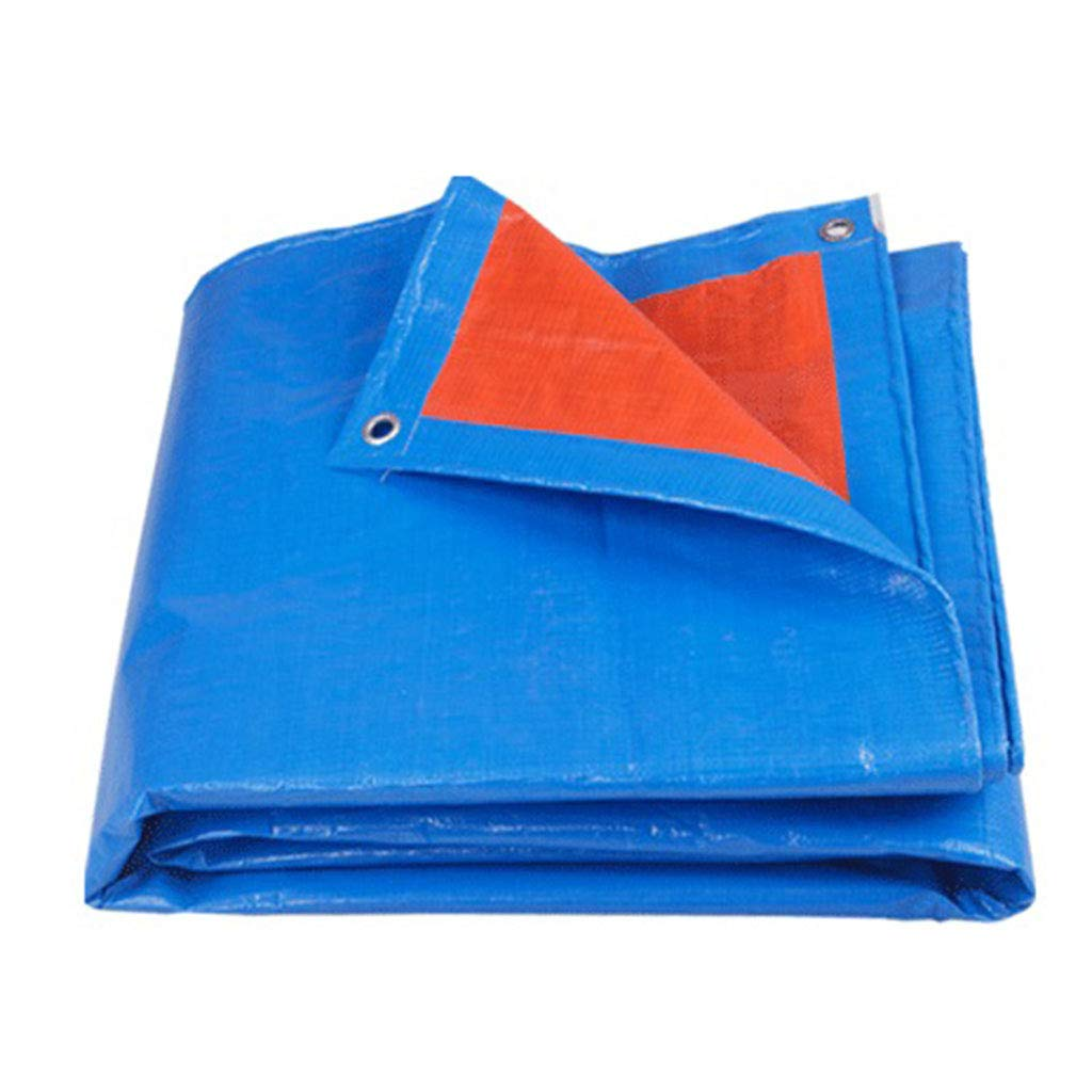 Bleu Thicken 88M BÂches LAOSUNJIA imperméable extérieure en Plastique de (Couleur   Bleu, Taille   Thicken 3  6M)