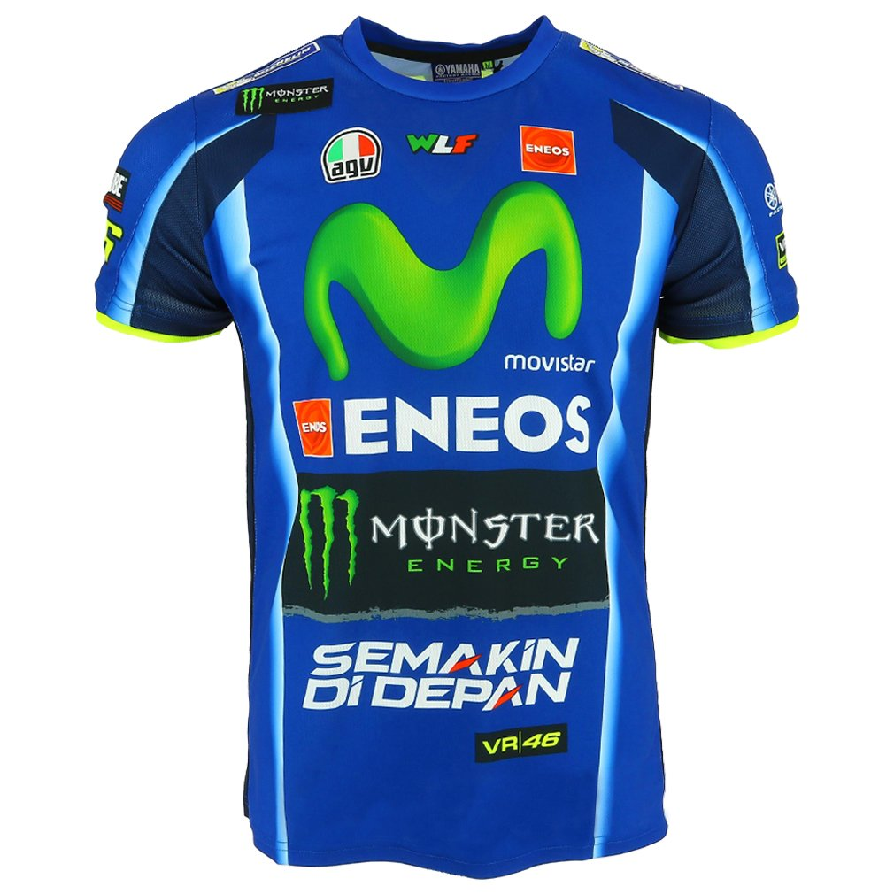 Valentino Rossi VR46 Moto GP M1 Yamaha Racing Replica T-shirt Official 2017