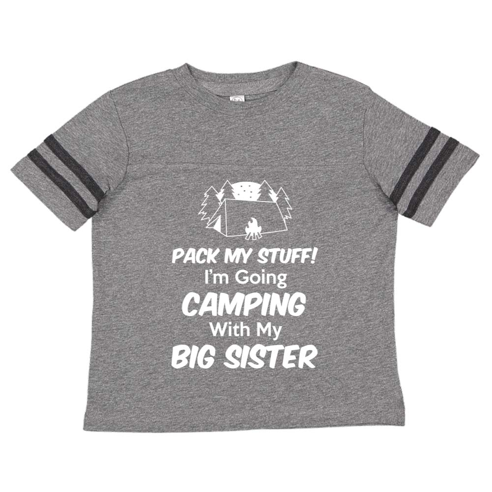 Toddler//Kids Sporty T-Shirt Im Going Camping with My Big Sister Pack My Stuff