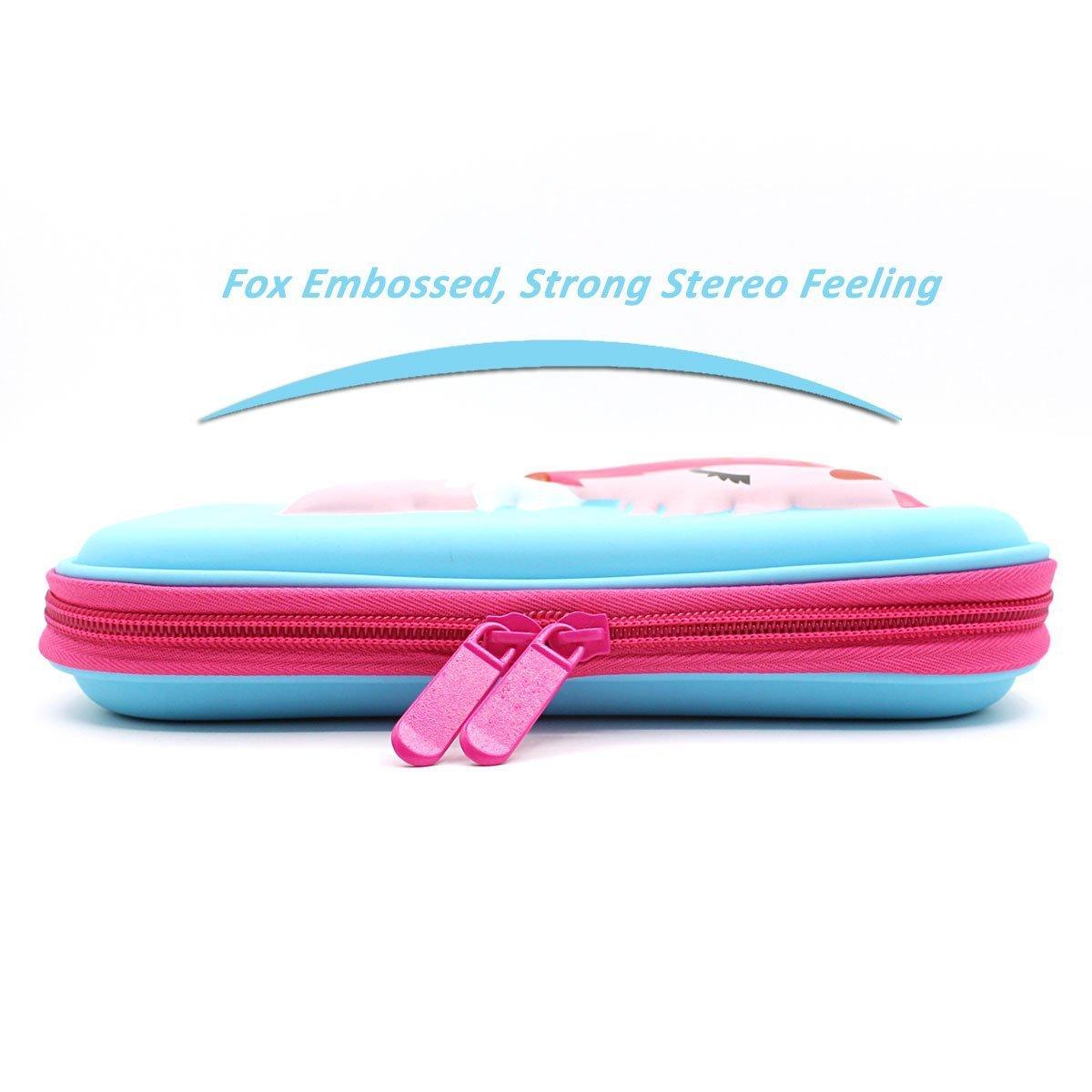Amazon.com : SOOCUTE Elegant Fox Hardtop Pencil Holder Cute EVA Pencil Case  With Big Capacity For Kids (Blue) : Office Products