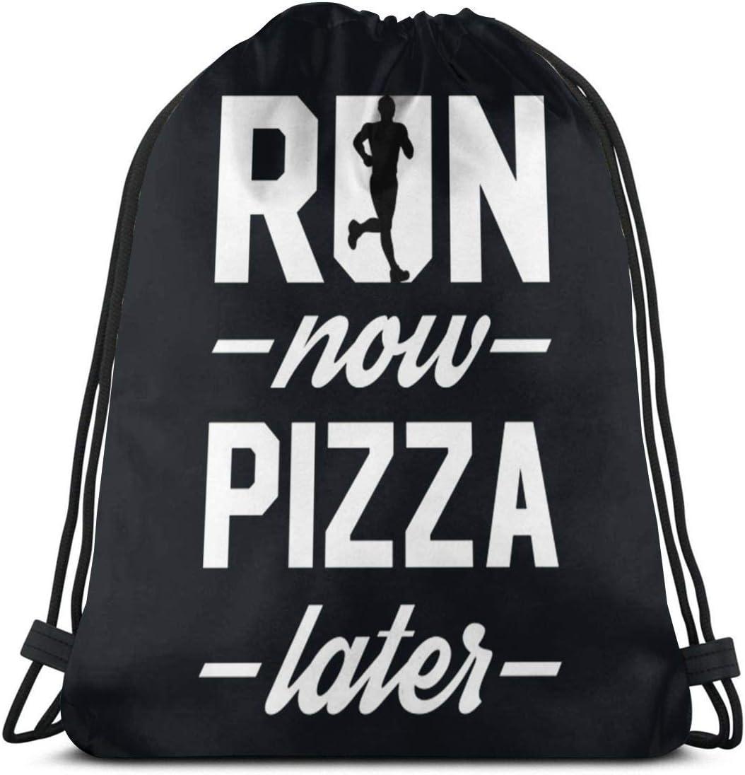 Drawstring Backpack Pizza Rucksack