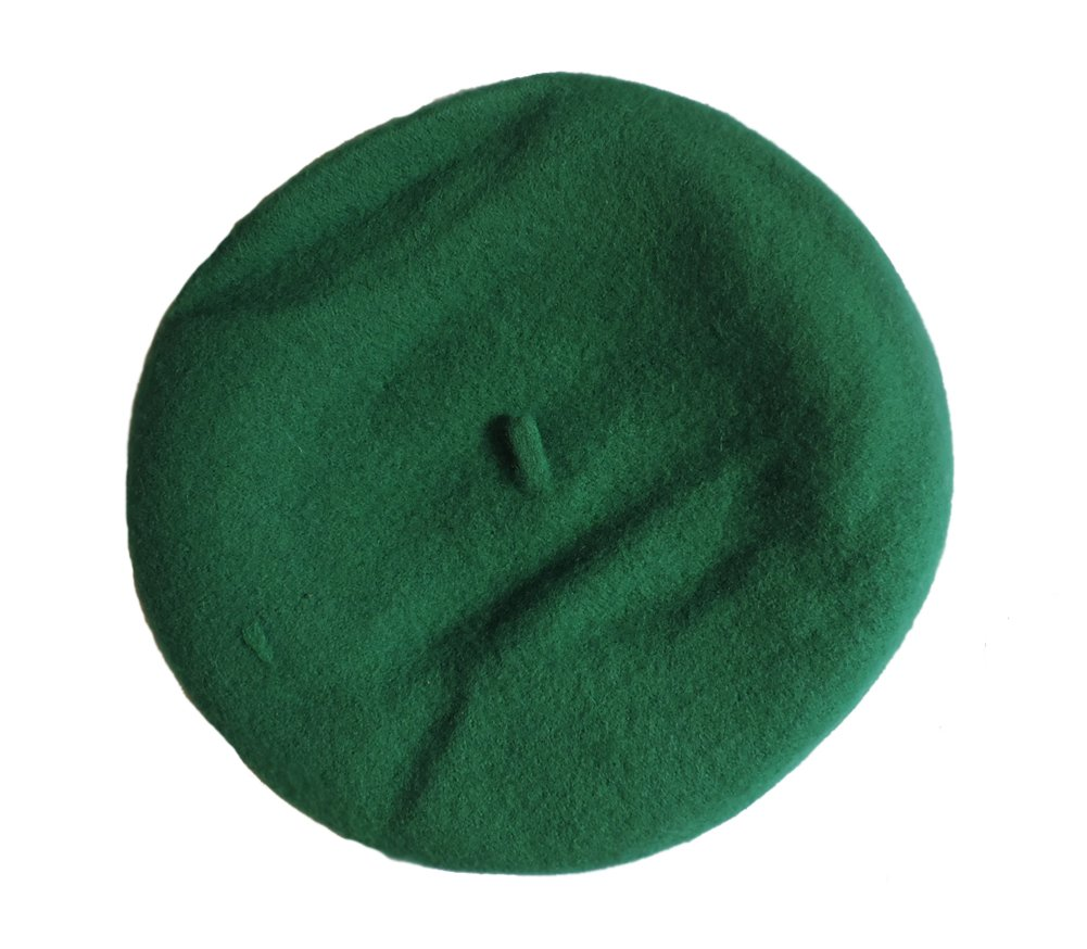 100% Wool Kelly Green Beret French Parisian Hat by Jacobson Hat Company (Image #3)