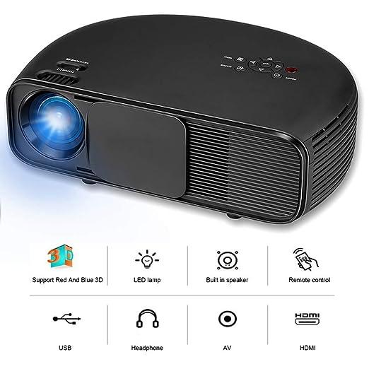 QLPP Proyector de vídeo con 3200 lúmenes LED 95% de uniformidad de ...