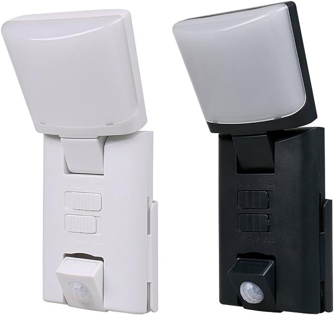 Juego de 2 portátil LED Outdoor Noche luces/Orientación luces con detector de movimiento 1 x Blanco, 1 x Negro, funciona con pilas: Amazon.es: Iluminación