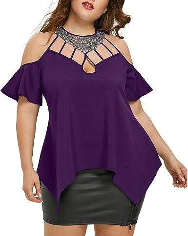 Camisetas Mujer Verano Blusas y camisas Elegante Camisetas ...
