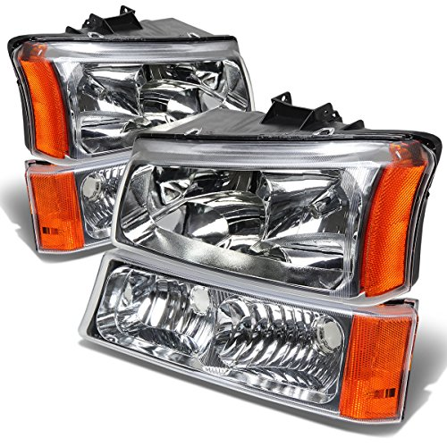 DNA Motoring HL-OH-CS03-4P-CH-AM Headlight Assembly, Driver and Passenger ()