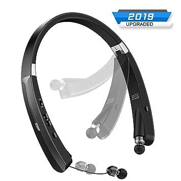 Arzopa Auriculares Bluetooth V4.1 Plegables Retráctiles, Inalámbricos Auriculares de Cuello Construidos en Micrófono