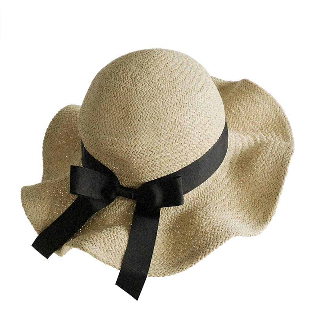 e28aa4a91 Khaki NJ hat- Straw Hat Female Bow Sun Predection Cap, Cap, Cap ...