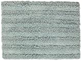 Chesapeake Merchandising 37405 Striped Cotton Reversible Bath Rug (6 Pack), 30'' x 50'', Moon Stone