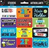 21st Brilliant Birthday Sticker Sheet