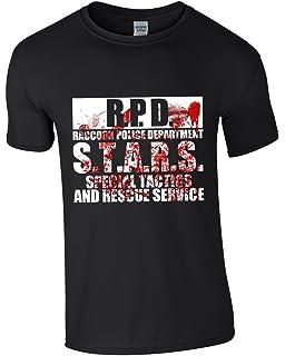 GAMESHIRT Raccoon City Police Department - Men s Resident Evil Gaming  T-Shirt Black 01c78956d224