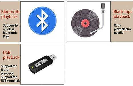 HXWS Tocadiscos Reproductor de Discos de Vinilo Soporte de ...
