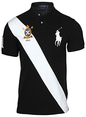 e5897f305 Image Unavailable. Image not available for. Color  Polo Ralph Lauren Men s  Custom Fit Big Pony Banner Polo Shirt (M ...