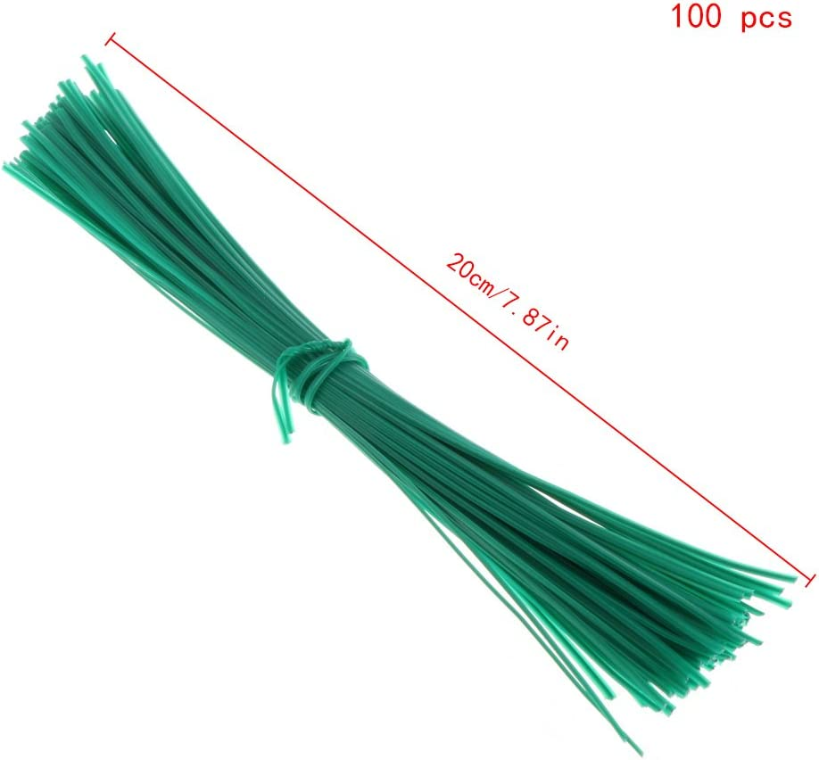 MB-LANHUA 100 Pieces Garden Twist Coated Twist Wire String Tie Plant Support Plastic Strap Cables