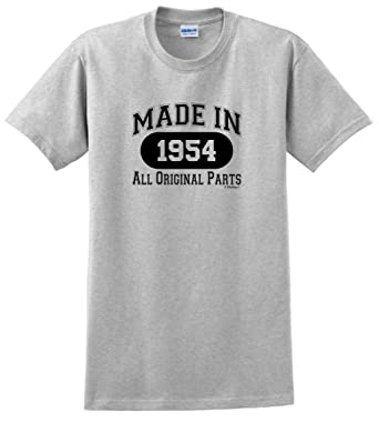65th Birthday Party Supplies Gift Made 1954 All Original Parts T Shirt Small