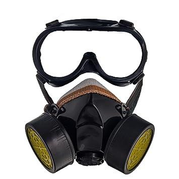 Karneval Industrie Anti-Staub- / Lackierung- Atemschutzmaske mit Schutzbrille Faschingsmaske