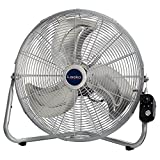 Lasko 2265QM 20-Inch Max Performance High Velocity Floor/Wall mount fan, Silver For Sale