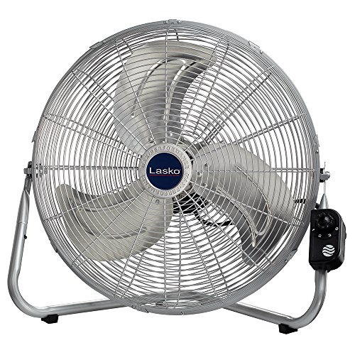 Lasko High Velocity Fan - Lasko 20″ High Velocity QuickMount, Silver-Easily Converts from a Floor Wall Fan