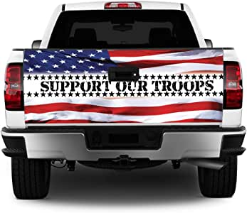 MightySkins Support Our Troops Flag Truck Decal Tailgate ...