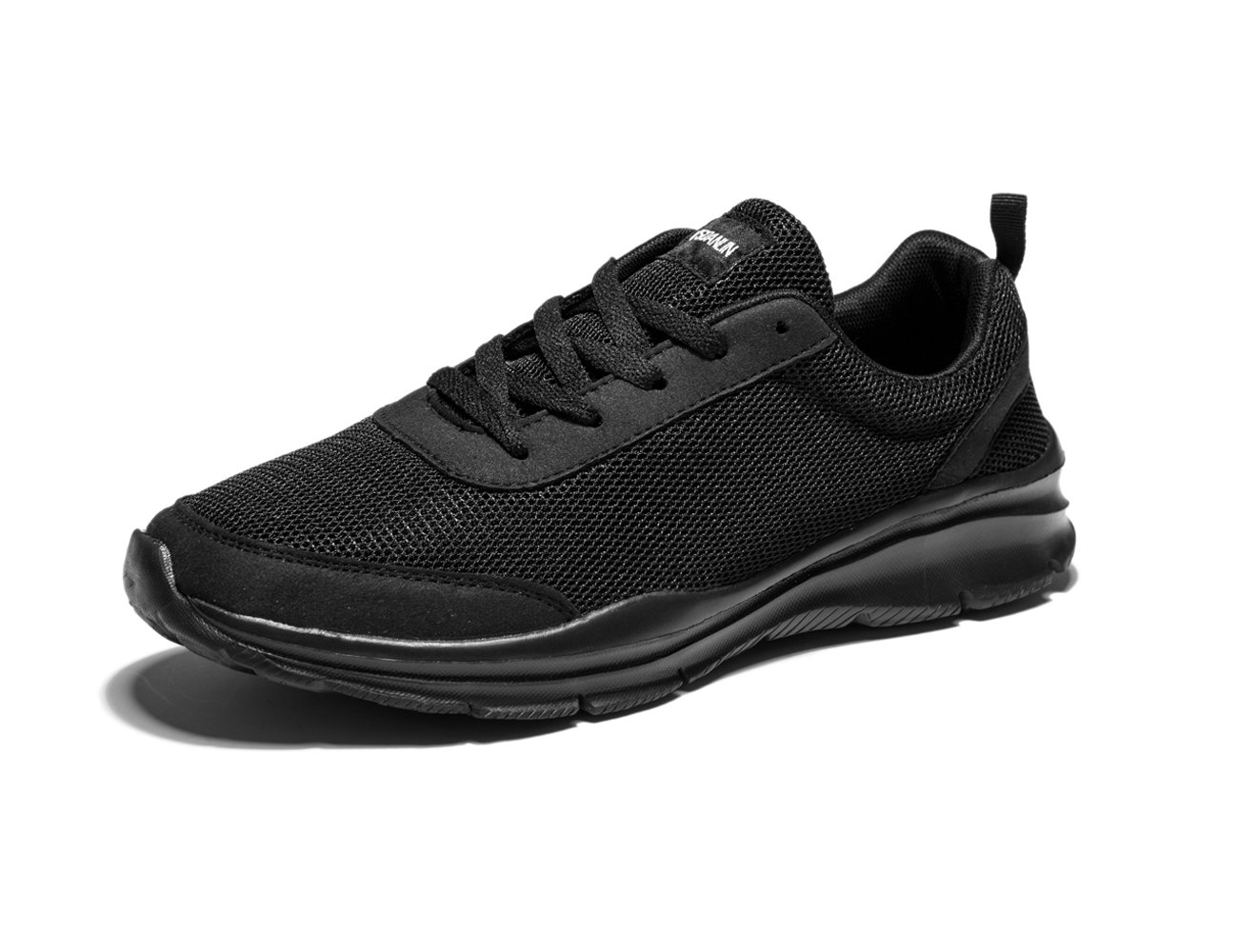VSDANLIN Men's Light Weight Running Casual Walking Comfortable Lace-up Beach Athletic Shoes (8US/41EU Men, Black)
