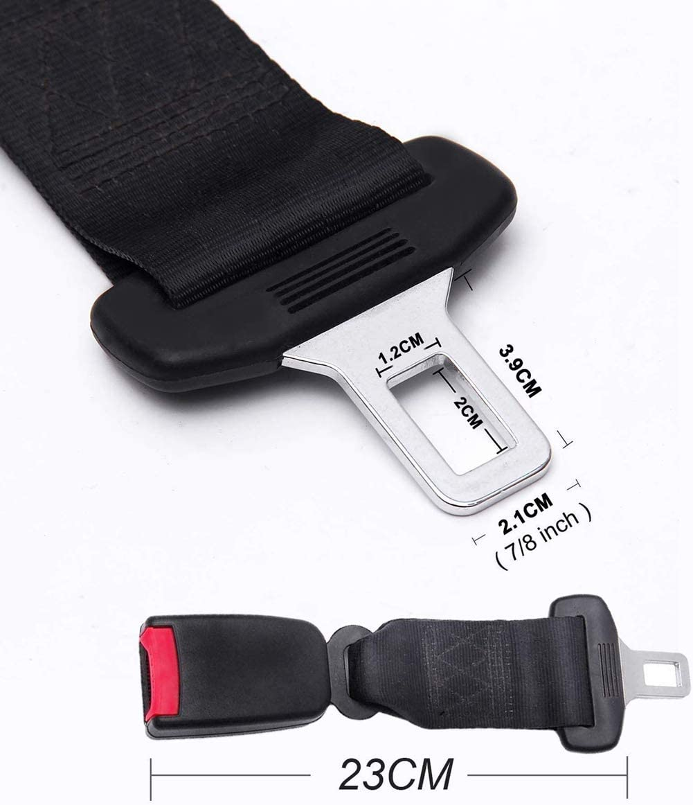 E11 Safety Certified,Suitable for Most Cars Seat Belt Buckle Extention,Metal Tongue 7//8 Gvbest Seat Belt Extender 2 Pack